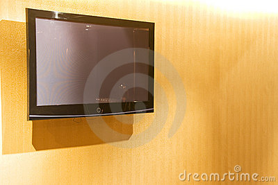 Flat Screen Television on Wall