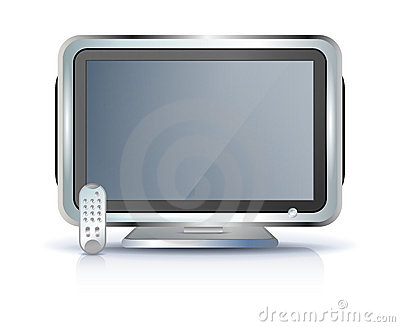 Flat screen tv set