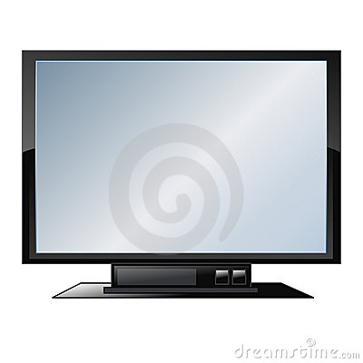 Flat screen tv - vector