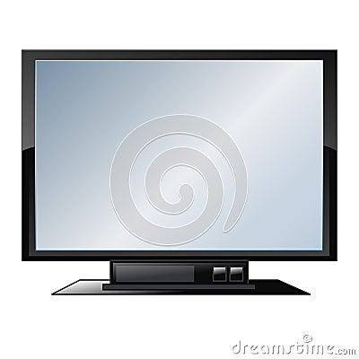 Flat screen tv - vector