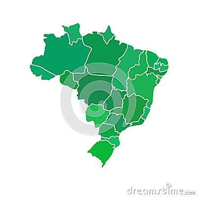 Free Flat Simple Brazil Map Stock Photo - 39619640
