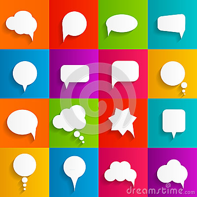 Free Flat Speech Bubbles With Long Shadows  Vector Stock Photos - 50544273