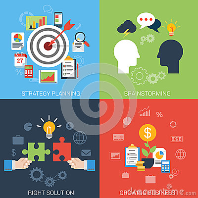 Free Flat Style Business Success Strategy Target Infographic Concept Stock Photos - 47419443