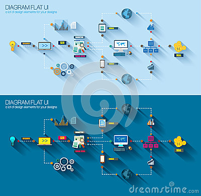 Free Flat Style Diagram, Infographic And UI Icon Stock Photography - 39983982