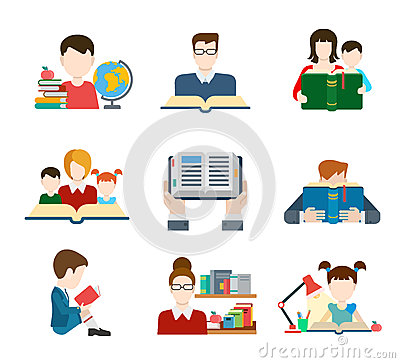 Free Flat Style Education People Icon Set Royalty Free Stock Photography - 51460387