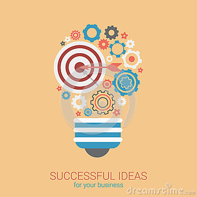Free Flat Style Modern Idea Innovation Light Bulb Infographic Concept Royalty Free Stock Image - 47411676