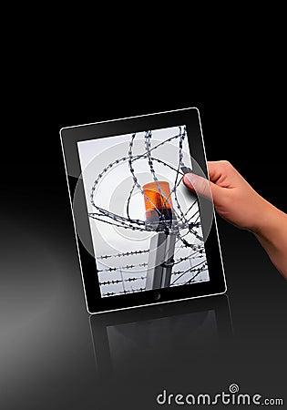 Flat tablet pc