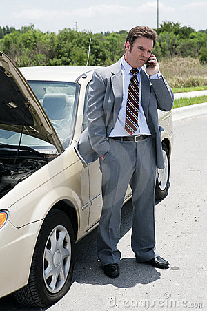 Free Flat Tire - Running Late Stock Photography - 2762572