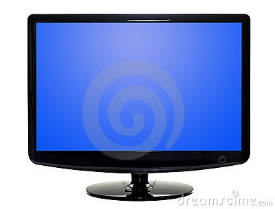 Flat TV Stock Photo