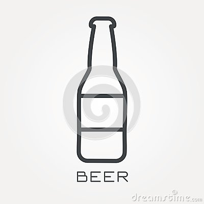 Free Flat Vector Icons With Beer Stock Image - 117249441
