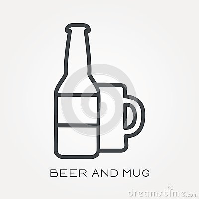 Free Flat Vector Icons With Beer And Mug Stock Photo - 117511720