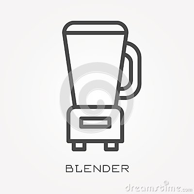 Free Flat Vector Icons With Blender Royalty Free Stock Photo - 118200865