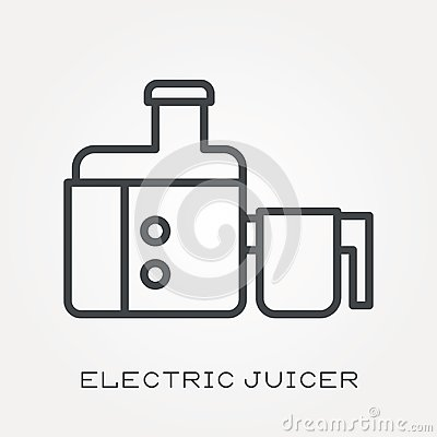 Free Flat Vector Icons With Electric Juicer Stock Photo - 117478420