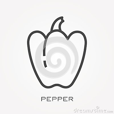 Free Flat Vector Icons With Pepper Stock Images - 117481464