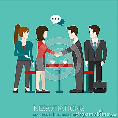 Free Flat Vector Negotiation Handshake - Success In Business Meeting Stock Photos - 59051323