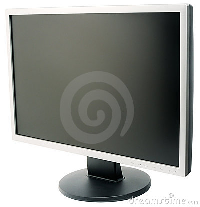 Flat wide LCD monitor