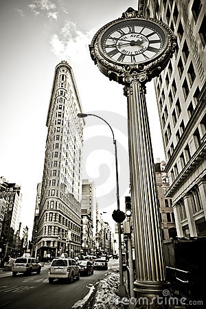 Flatiron Building In NYC Royalty Free Stock Photography - Image: 18105157