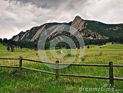 Flatiron Mountain range in Boulder, Colorado