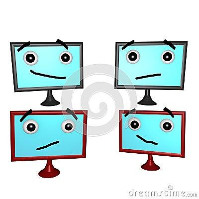 Flatscreen Faces 3d