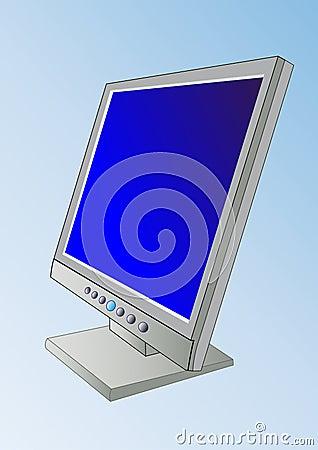 A flatscreen  - PC Monitor - V
