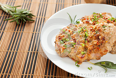 Flavorful cutlet with chives