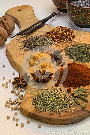 Free Flavoring - Spices Used In Cooking Royalty Free Stock Photos - 49704248