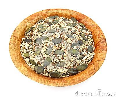 Flax, pumpkin, sesame and sunflower seeds healthy