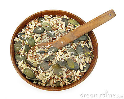 Flax, pumpkin, sesame and sunflower seeds healthy