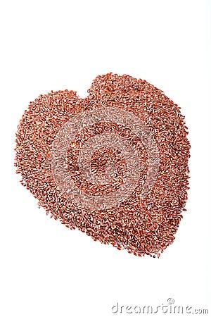 Flax seed heart