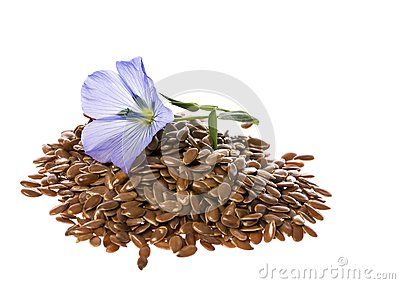Flax seed, linseed Stock Photo