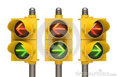 Flèche de feu de signalisation