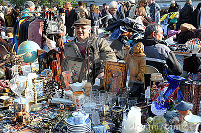 Flea market Editorial Stock Image