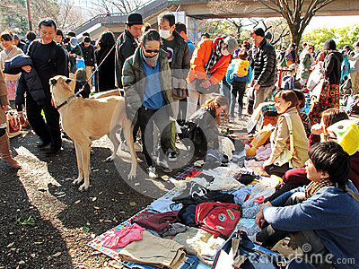 Flea Market in Harajuku Japan Editorial Image