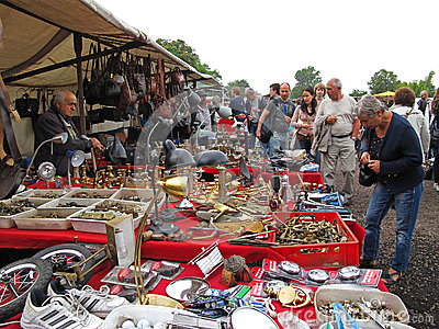Flea market Mauerpark, Berlin Editorial Photo
