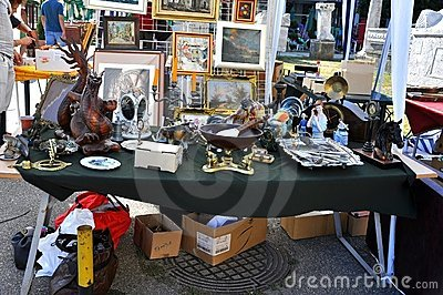 Flea market in Romania Editorial Photography