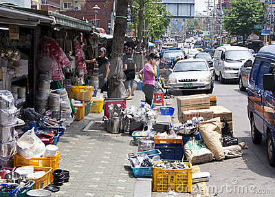 Flea market in Seoul Editorial Image