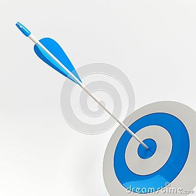 Flecha en blanco