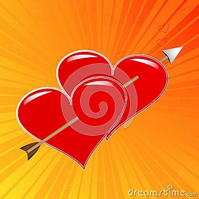 corazones con flecha