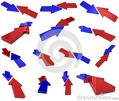 Flechas de la colisión