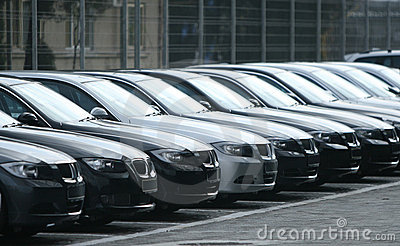 Fleet of cars