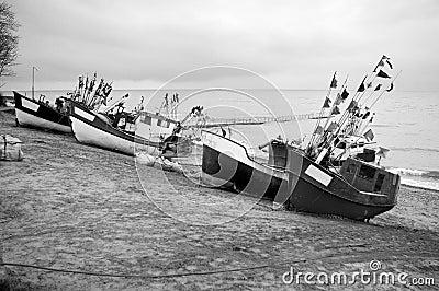 Fleet of Small Boats