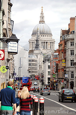 Fleet Street and Ludgate Hill, London Editorial Image