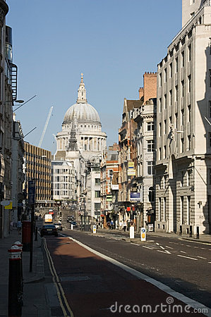 Fleet Street and St Paul s, London