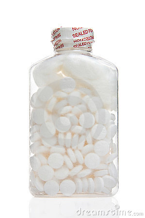 Fles van aspirine