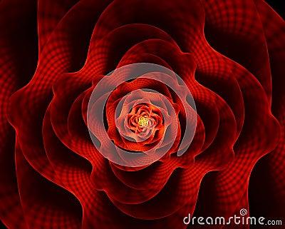 Fleur Ardente, La Fleur Rouge De L'amour Photos stock - Image: 7834453