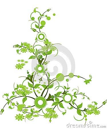 fleur avec la couleur verte photos stock image 12692783. Black Bedroom Furniture Sets. Home Design Ideas