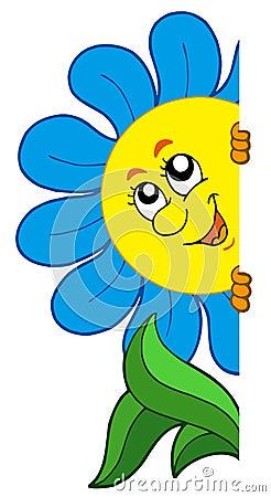 Fleur de dessin animé menaçant