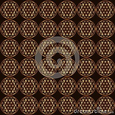 Fleur de fond sans couture de symbole d 39 en cuivre de la vie la g om trie sacr e illustration de - Symbole de la vie ...