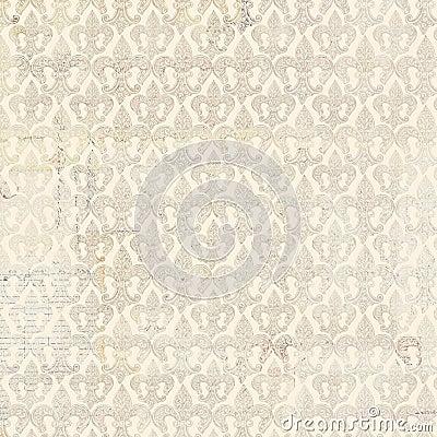 Fleur-de-lis beige repeat seamless pattern Stock Photo