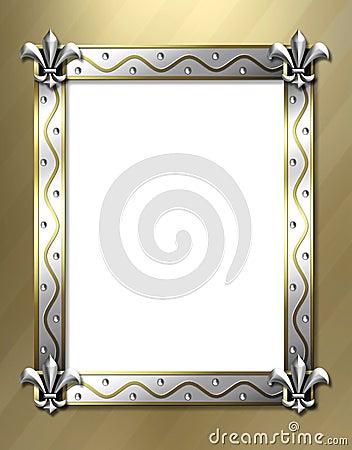 Fleur de lis frame